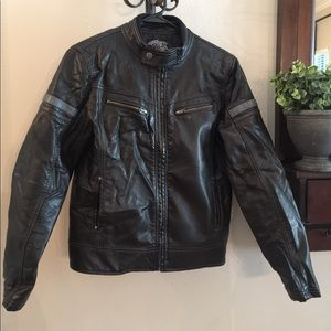 Other - Boy's Soft black faux leather jacket size 12/14